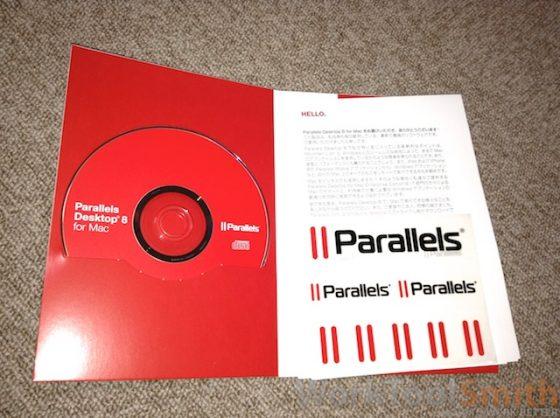 Parallels DVDメディア