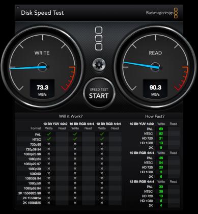 SanDisk Extreme Pro SDHC ベンチマーク