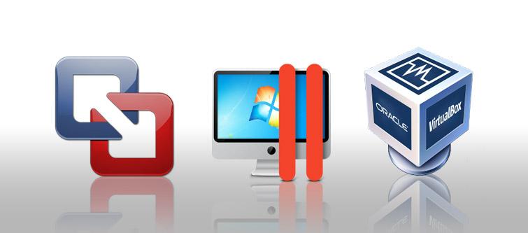 VMware Fusion, Paralles, VirtualBox タイトル