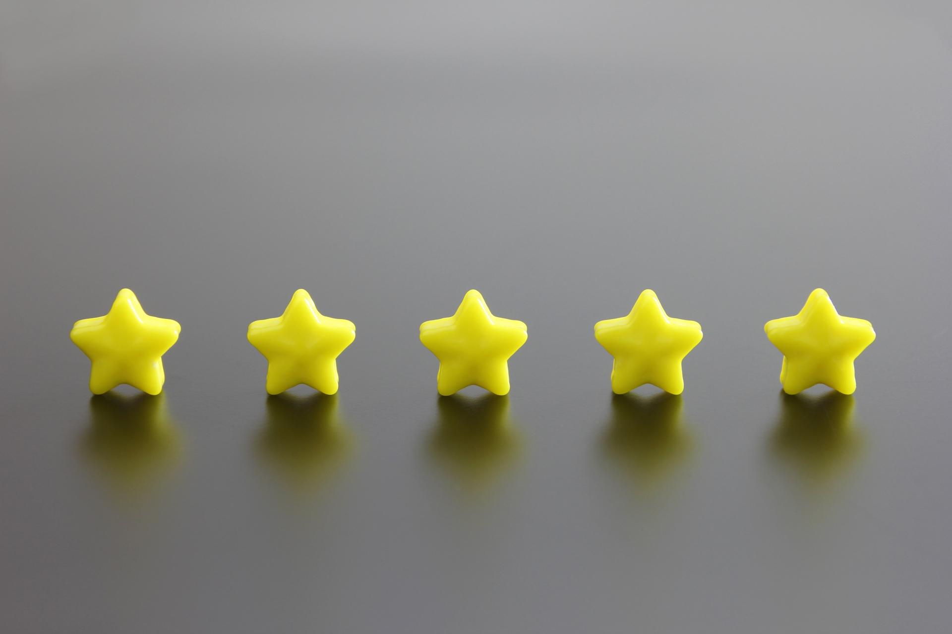 5つ星の写真