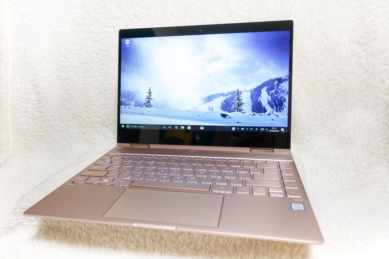 オトナのローズピンクをまとった高級感あふれるノートパソコン hp