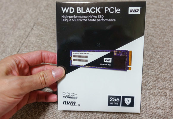 お手頃価格なのに速い!NVMe対応M.2 SSD WD Black 256GB (WDS256G1X0C) をベンチマーク